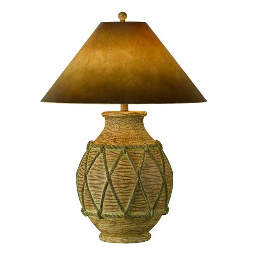 """Cal Lighting Chachaboan 30"""" H Table Lamp with Empire Shade"""