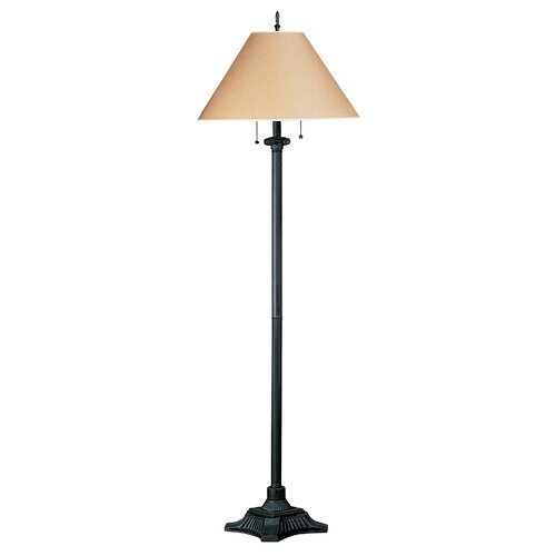 cal lighting floor lamp with pull chain reviews wayfair. Black Bedroom Furniture Sets. Home Design Ideas