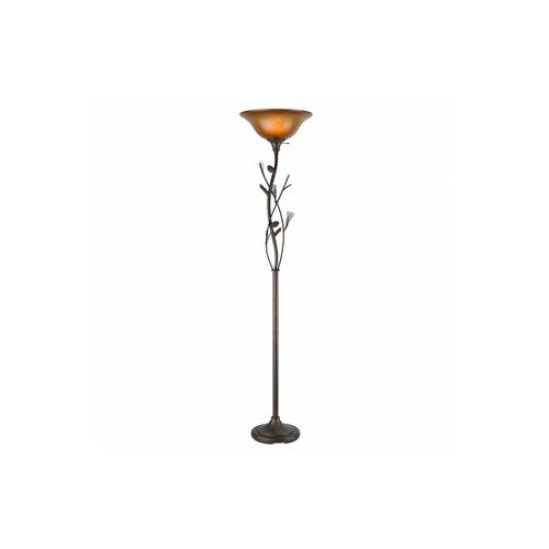 Cal Lighting Pine Cone Torchiere Floor Lamp