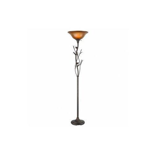 Cal Lighting Pine Cone Torchiere Floor Lamp