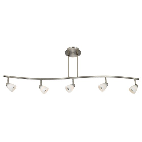 Cal Lighting Serpentine 5 Light Track Light with Glass