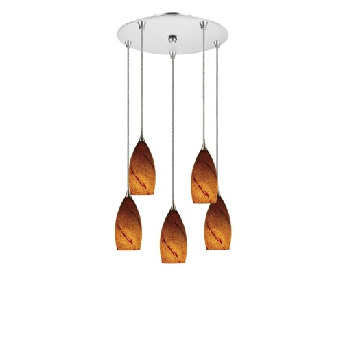 Line Voltage 5 Light Pendant