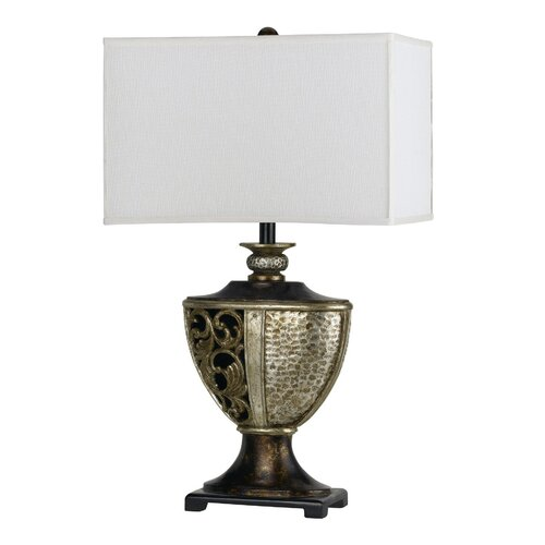 """Cal Lighting Andria 29.5"""" H Table Lamp with Rectangle Shade"""