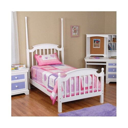 Comfort Decor Color Box Poster Bed in White