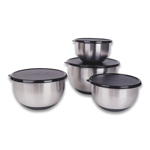 Geminis Stainless Steel 8-Piece Mixing Bowl Set