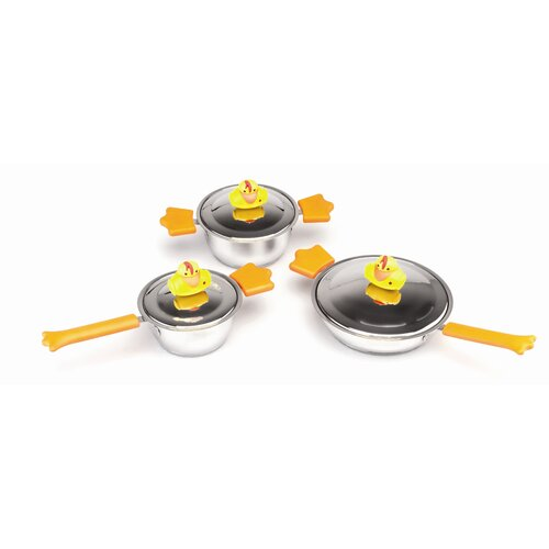 Sheriff Duck Stainless Steel 6-Piece Cookware Set
