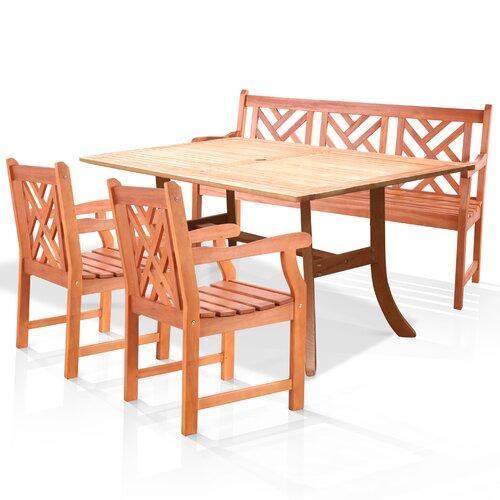 Vifah Atlantic 4 Piece Dining Set