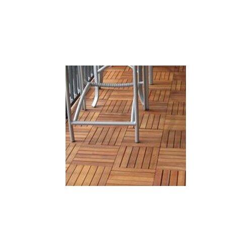 "Vifah Eucalyptus 12"" x 12"" Interlocking Deck Tiles"