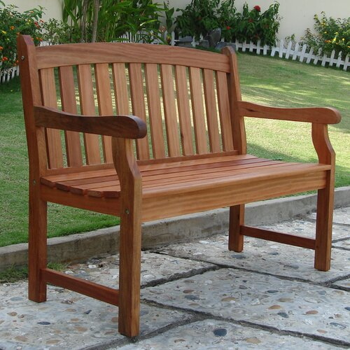 Rustic outdoor benches wayfair for Outdoor furniture benches