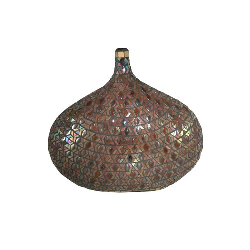 Peacock Mosaic Decorative Vase