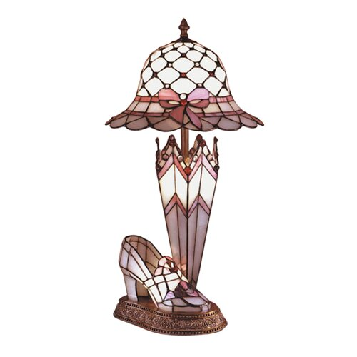 "Dale Tiffany Hat Shoe Umbrella 23"" H Table Lamp with Bowl Shade"
