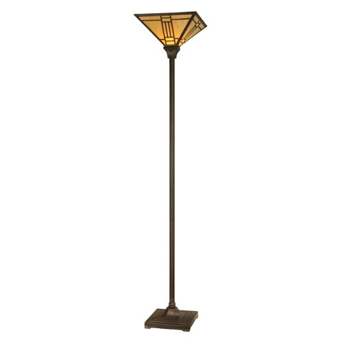 Dale Tiffany Noir Mission 1 Light Torchiere Floor Lamp