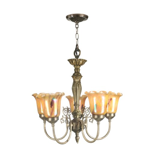 Dale Tiffany 5 Light Columbus Tulip Chandelier
