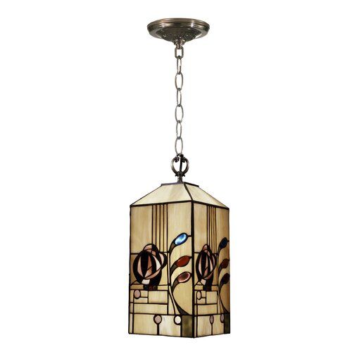 Dale Tiffany Rose Boudoir Mack 1 Light Mini Foyer Pendant