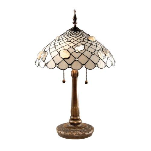 "Dale Tiffany Tiffany Shells 26"" H Table Lamp with Bowl Shade"