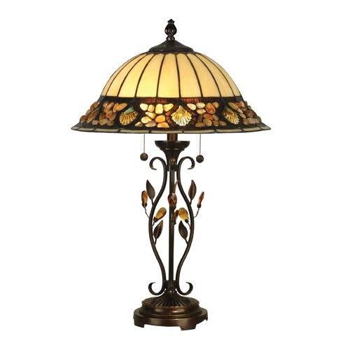 "Dale Tiffany Pebblestone 27"" H Table Lamp with Bowl Shade"