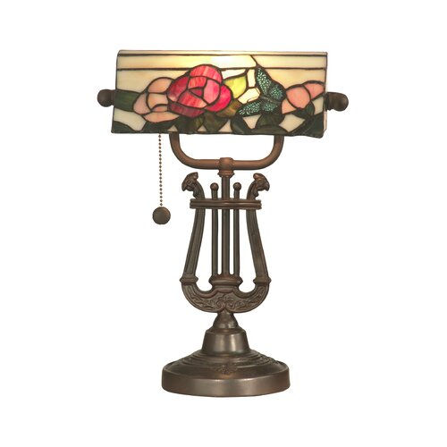 """Dale Tiffany Broadview Bankers 16.25"""" H Table Lamp"""