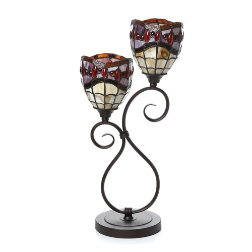 """Dale Tiffany Fall River 22"""" H Table Lamp with Bell Shade"""