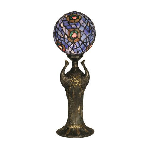 "Dale Tiffany Globe Peacock 24"" H Table Lamp"