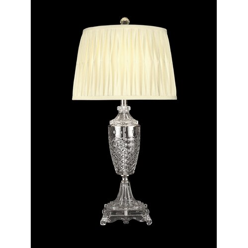 """Dale Tiffany 30"""" H 1 Light Crystal Table Lamp"""