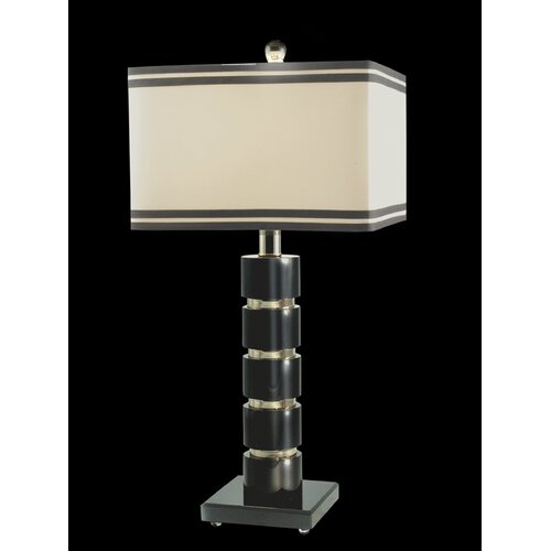 "Dale Tiffany Prentiss 27"" H Table Lamp with Rectangle Shade"