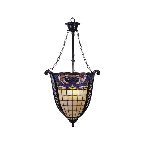 Dale Tiffany Odette 3 Light Foyer Inverted Pendant