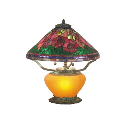 "Dale Tiffany Poppy 18"" H 4 Light Table Lamp"