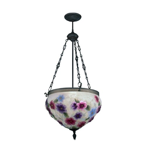 Dale Tiffany Cosmos Pairpoint 3 Light Foyer Inverted Pendant