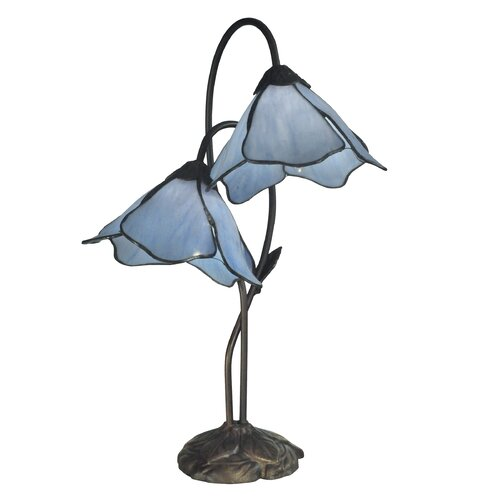 dale tiffany poelking lily 21 h table lamp with bell shade review. Black Bedroom Furniture Sets. Home Design Ideas