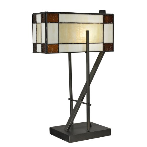 """Dale Tiffany Diamond Hill 20"""" H Table Lamp with Rectangle Shade"""