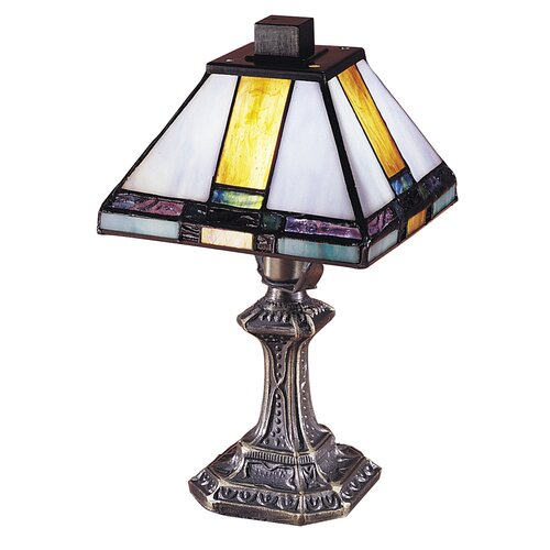 "Dale Tiffany Tranquility Mission 11"" H Table Lamp with Square Shade"