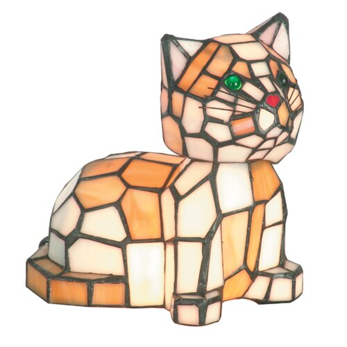 Dale Tiffany Tiger Cat 2 Light Accent Table Lamp