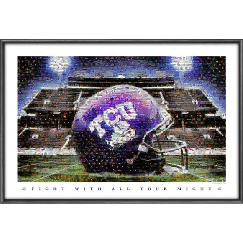 Sports Coverage Inc. NCAA Mosaics Framed Graphic Art