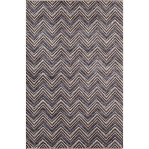 Tahoe Blue Chevron Rug