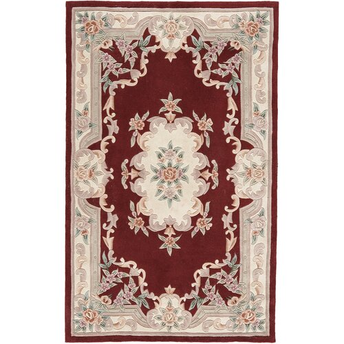 Rugs America New Aubusson Burgundy Rug