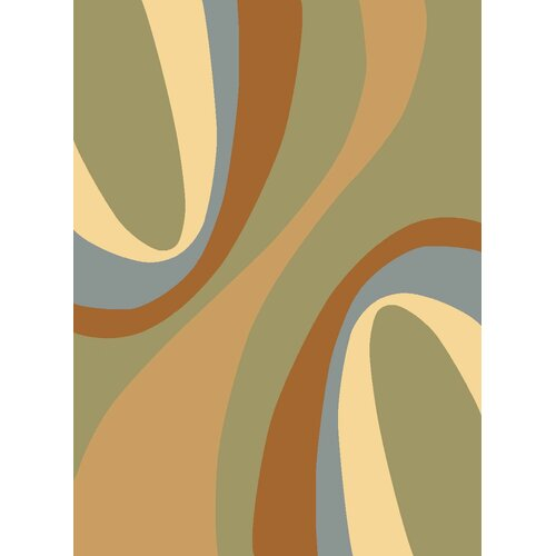 Torino Light Green Swirls Rug