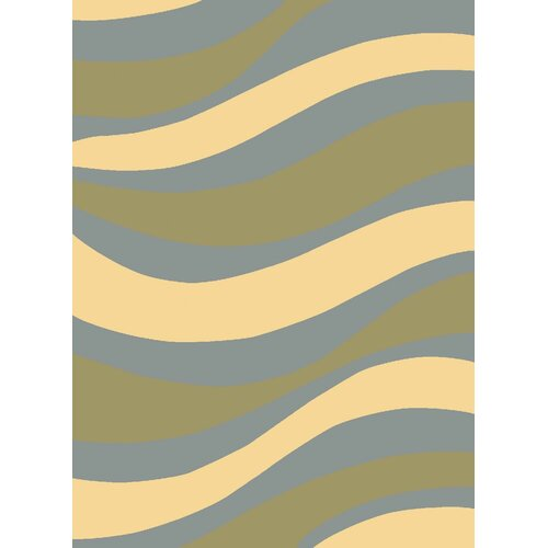 Torino Light Blue Waves Rug