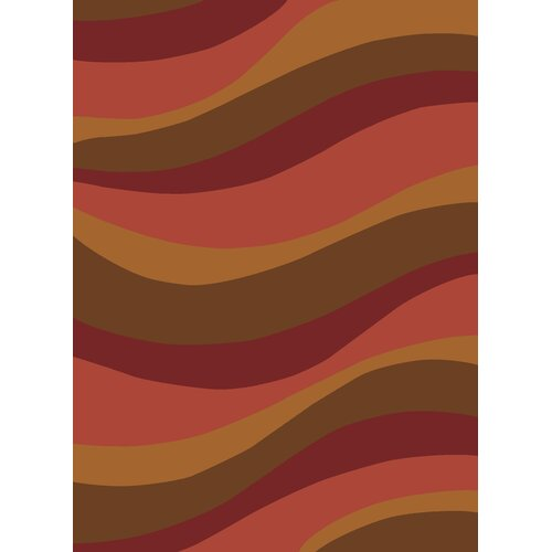Rugs America Torino Rose Waves Rug