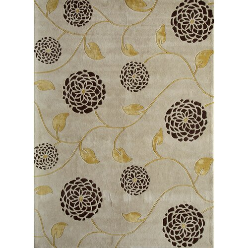 Rugs America Allure White Floral Rug