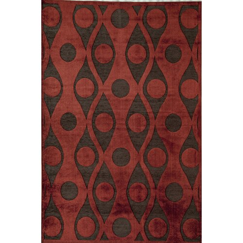 Rugs America Salerno Rust Retro Rug