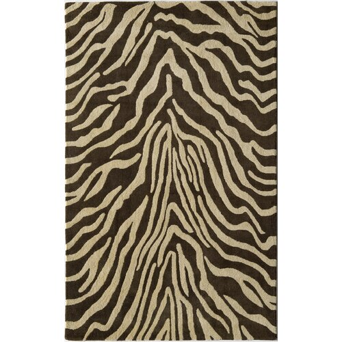 Rugs America Urban Brown Zebra Rug