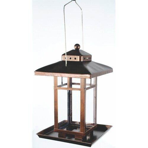 Audubon Square Lantern Decorative Bird Feeder