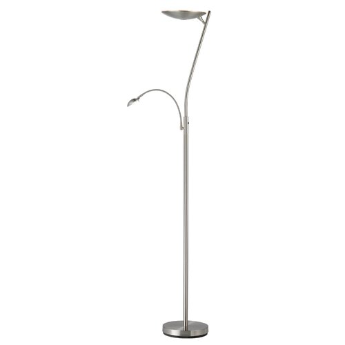 adesso jupiter led combo torchiere floor lamp reviews wayfair. Black Bedroom Furniture Sets. Home Design Ideas