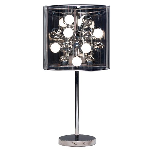 """Adesso Starburst 28.5"""" H Table Lamp with Drum Shade"""