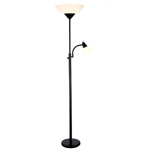piedmont torchiere floor lamp with reading. Black Bedroom Furniture Sets. Home Design Ideas