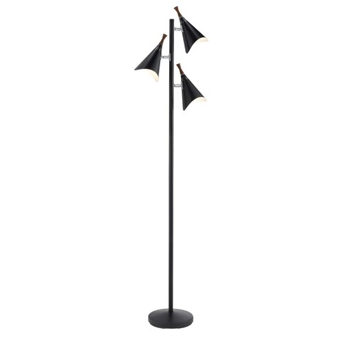 Adesso draper 3 light tree floor lamp reviews wayfair for Draper 3 light tree floor lamp