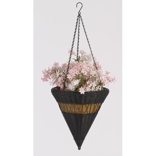 Resin Wicker Cone Hanging Basket