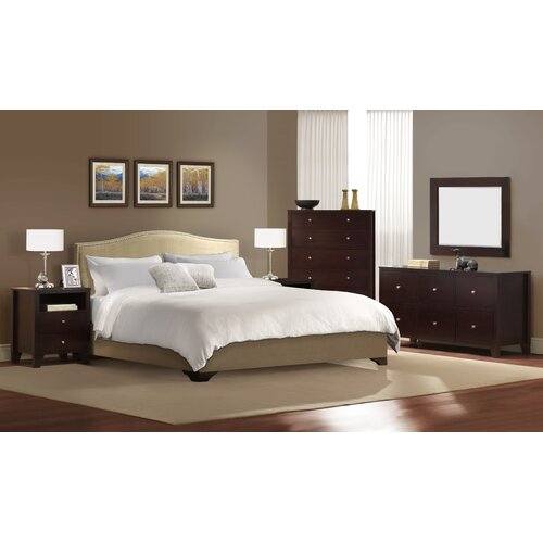 LifeStyle Solutions Magnolia Sleigh 5 piece Bedroom Collection
