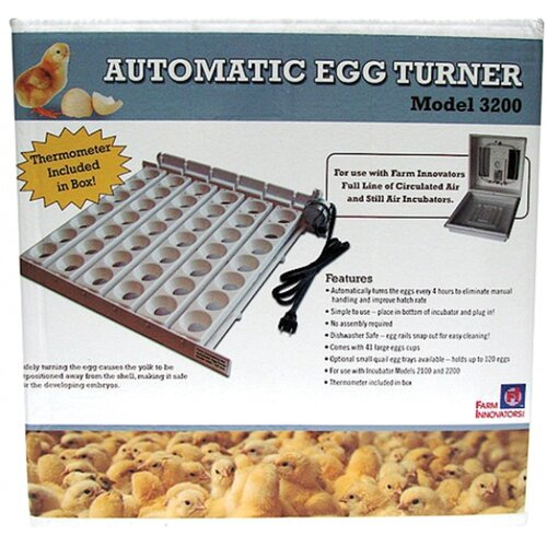 Farm Innovators Automatic Egg Turner in White