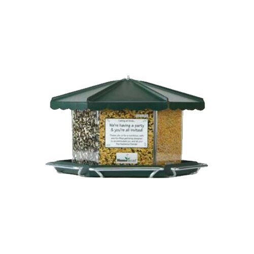 Homestead Triple Bin Party Hopper Bird Feeder